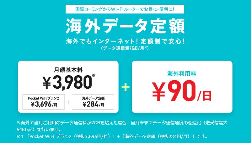 Y!mobileの海外データ定額の概要